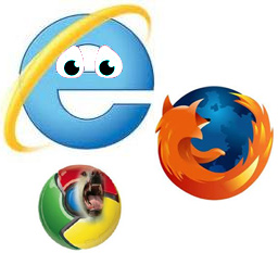 ie vs ff vs chrome